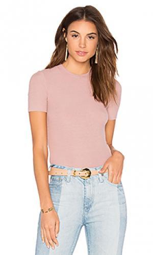 Укороченный свитер с коротким рукавом GETTINGBACKTOSQUAREONE. Цвет: розовый