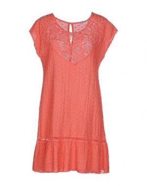 Короткое платье RISSKIO. Цвет: коралловый