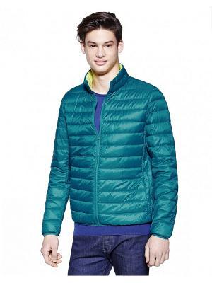 Куртка United Colors of Benetton. Цвет: зеленый, желтый
