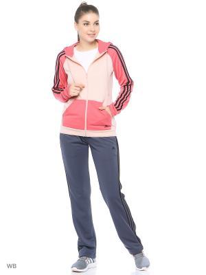 Спортивный костюм Adidas. Цвет: бледно-розовый, темно-серый, малиновый