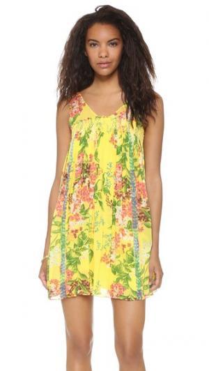 Мини-платье со сборками plenty by TRACY REESE. Цвет: цветочный рисунок джакарта
