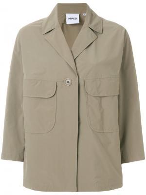 Cargo pocket jacket Aspesi. Цвет: телесный