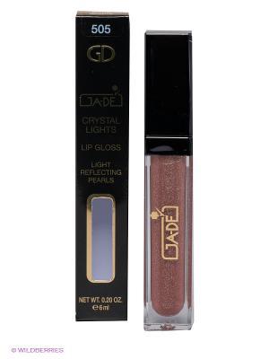 Блеск для губ Crystal Lights Gloss, 505 тон GA-DE. Цвет: темно-бежевый