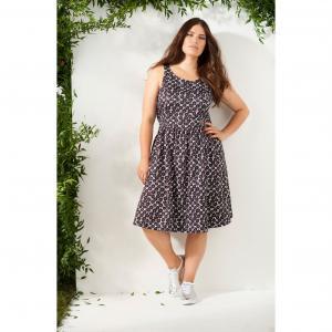 Платье без рукавов CASTALUNA. Цвет: цветочный рисунок