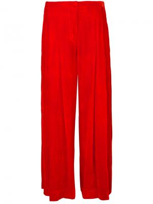 Широкие укороченные брюки Raquel Allegra. Цвет: жёлтый и оранжевый