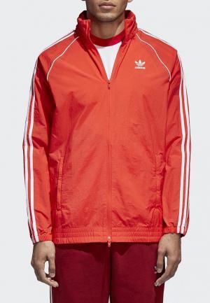 Ветровка adidas Originals. Цвет: красный