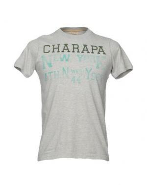 Футболка CHARAPA. Цвет: серый