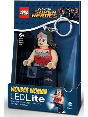 Брелок-фонарик для ключей LEGO Super Heroes - Wonderwoman. Цвет: темно-синий, серый, бежевый, красный