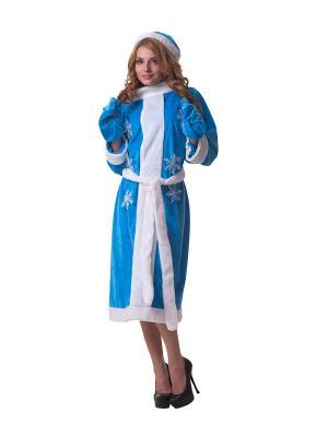 Костюм для взролых Снегурочка голубой LeFrivole. Цвет: голубой