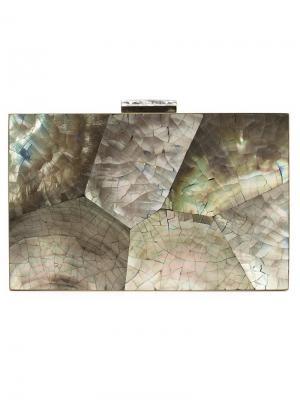 Клатч с мраморным узором Kayu. Цвет: многоцветный