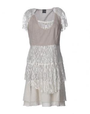 Короткое платье PAUSE CAFÉ. Цвет: голубиный серый