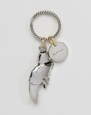 Paul Smith Металлический брелок для ключей с открывалкой в виде клешни. Цвет: серебряный