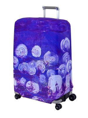 Чехол для чемодана  Night Lights L/XL Coverway. Цвет: темно-фиолетовый