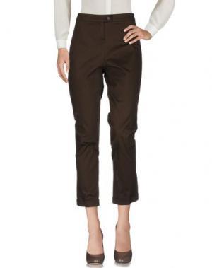 Повседневные брюки NATAN COLLECTION. Цвет: темно-коричневый