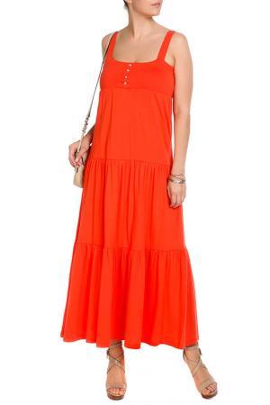 Платье VIS-A-VIS. Цвет: оранжевый