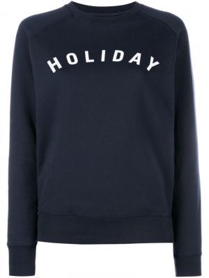 Толстовка с принтом-логотипом Holiday. Цвет: синий