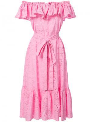 Платье с бантом Lisa Marie Fernandez. Цвет: розовый и фиолетовый