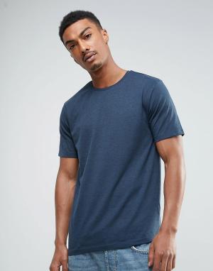 Troy Меланжевая футболка. Цвет: темно-синий
