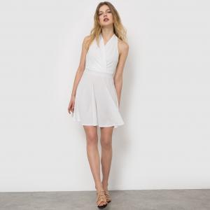 Платье с запахом MOLLY BRACKEN. Цвет: белый