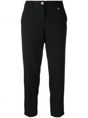 Классические укороченные брюки Versace Jeans. Цвет: чёрный