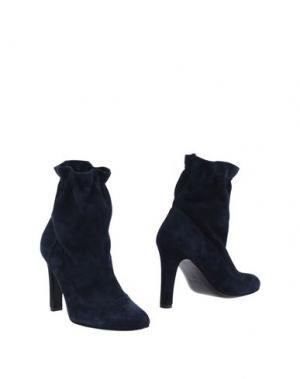 Полусапоги и высокие ботинки NATAN. Цвет: темно-синий
