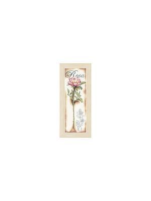 Набор для вышивания Pink Rose /Роза/ 20*63см Vervaco. Цвет: зеленый, коричневый, розовый