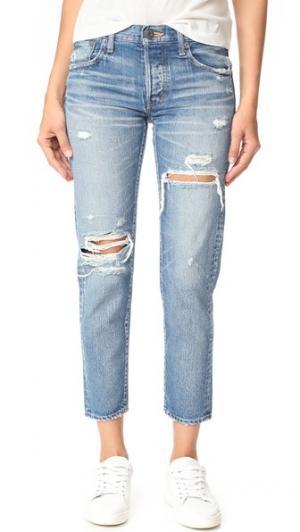 Зауженные джинсы MV Bowie MOUSSY. Цвет: голубой
