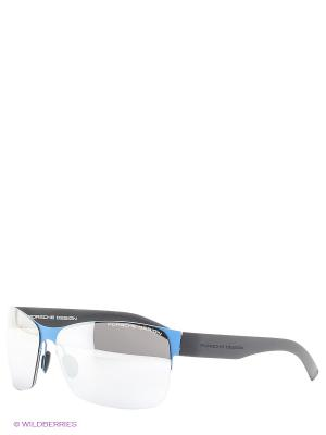 Солнцезащитные очки Porsche Design. Цвет: синий