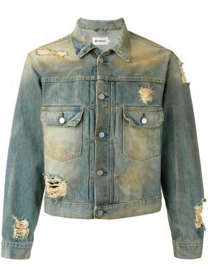 Джинсовая куртка Tokyo Misbhv. Цвет: синий