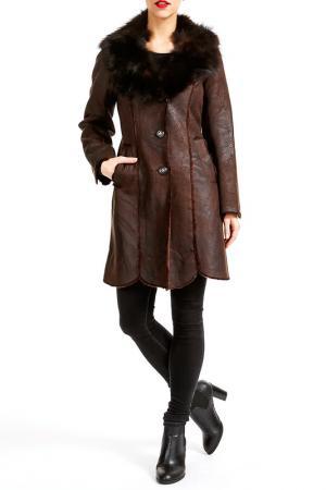 Пальто Isaco & Kawa. Цвет: brown