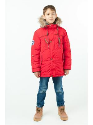 Куртка batik. Цвет: красный