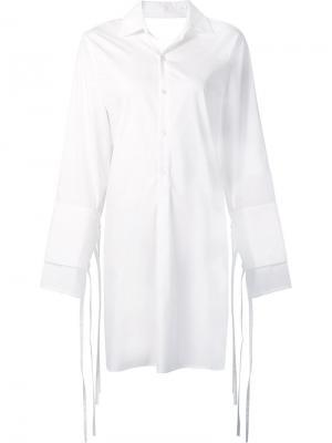 Платье-рубашка Poplin Tome. Цвет: белый