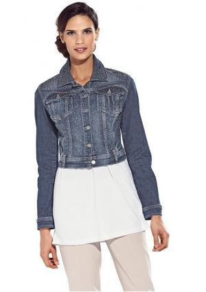 Джинсовая куртка Ashley Brooke. Цвет: синий деним