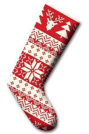 Рождественский носок CHRISTMAS - DECORATION. Цвет: белый