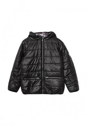Куртка утепленная 3 Pommes. Цвет: черный