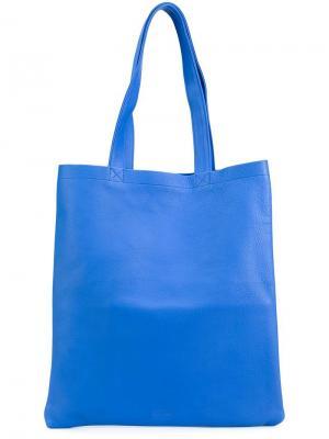 Классическая сумка-тоут Isaac Reina. Цвет: синий