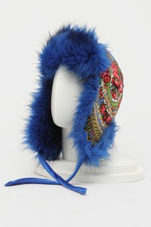 Шапка-ушанка Romax. Цвет: мех синий