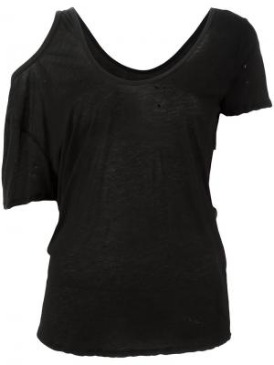 Блузка с вырезными деталями Unravel Project. Цвет: чёрный