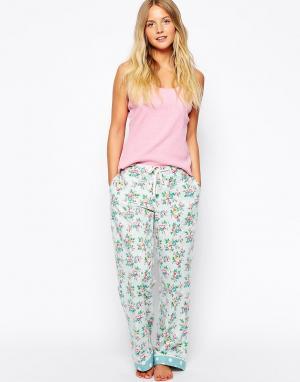 Cath Kidston Длинные пижамные штаны Kingswood Rose. Цвет: kingswood rose / роз