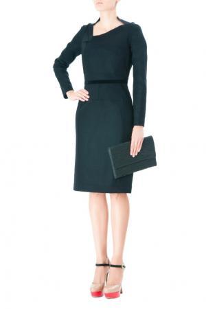 Платье с асимметричным вырезом Roland Mouret. Цвет: черный