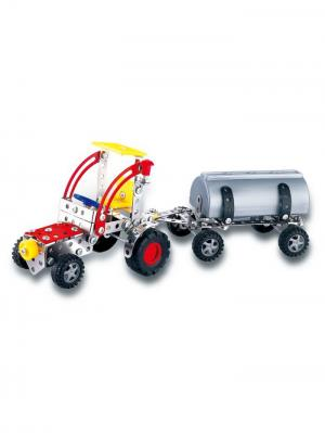 Конструктор Железный S3 Машинка с прицепом L Склад Уникальных Товаров. Цвет: серебристый