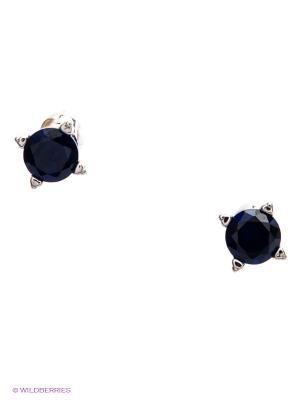 Серьги Lovely Jewelry. Цвет: синий