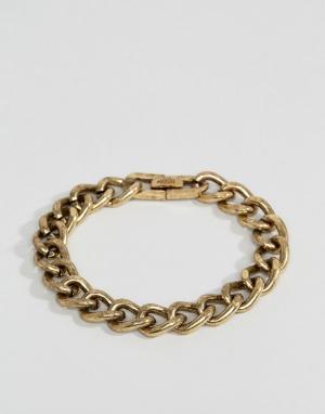 Icon Brand Массивный браслет-цепочка золотистого цвета. Цвет: золотой