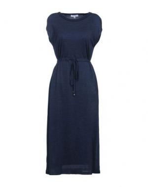 Платье длиной 3/4 CA' VAGAN. Цвет: темно-синий