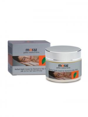 Питательный ночной крем для нормальной и жирной кожи лица Moraz. Цвет: белый
