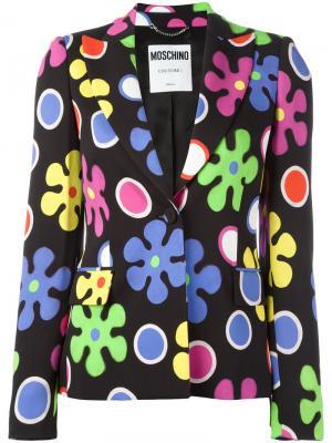 Пиджак с цветочным узором Moschino. Цвет: чёрный
