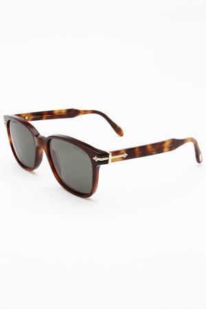 Очки солнцезащитные Trussardi. Цвет: коричневый