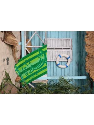 Полотенце плжное 90х160 Дельфин зеленый TOALLA. Цвет: зеленый
