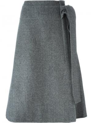 Юбка А-образного силуэта Rochas. Цвет: серый