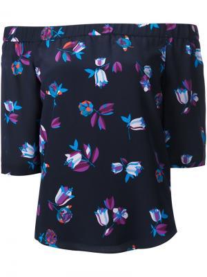 Блузка с цветочным принтом Rebecca Taylor. Цвет: синий